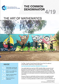 Download the latest issue of The Common Denominator, a quarterly magazine for mathematics educators by the Mathematical Association of Victoria. It provides information and articles about the MAV and its activities, and maths education in general.