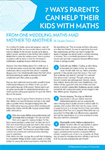 7 WAYS PARENTS CAN HELP THEIR KIDS WITH MATHS